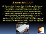 romans 1 21 23 25