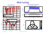 after tuning