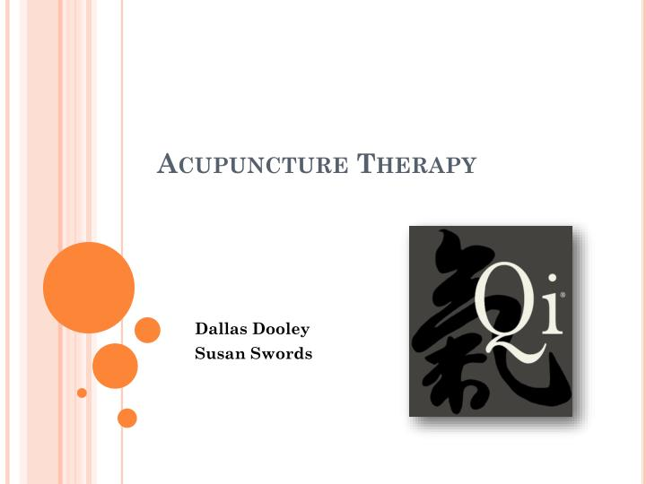 acupuncture therapy n.