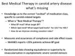 best medical therapy in carotid artery disease what s missing