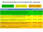 revascularization of asymptomatic stenosis