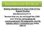 how to remember who we are2