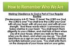 how to remember who we are3