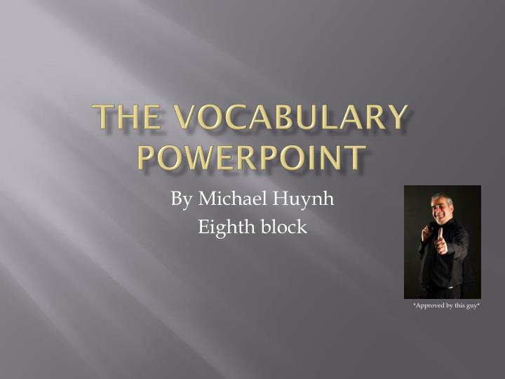 the vocabulary powerpoint n.