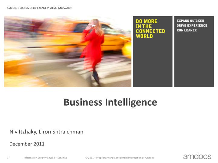 business intelligence n.