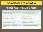 great faith vs little faith
