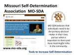 missouri self determination association mo sda