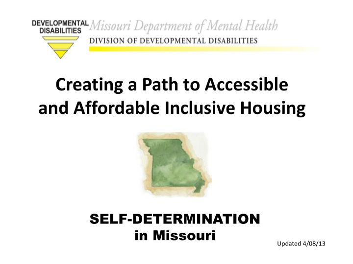 self determination in missouri n.