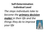 self determination individual level