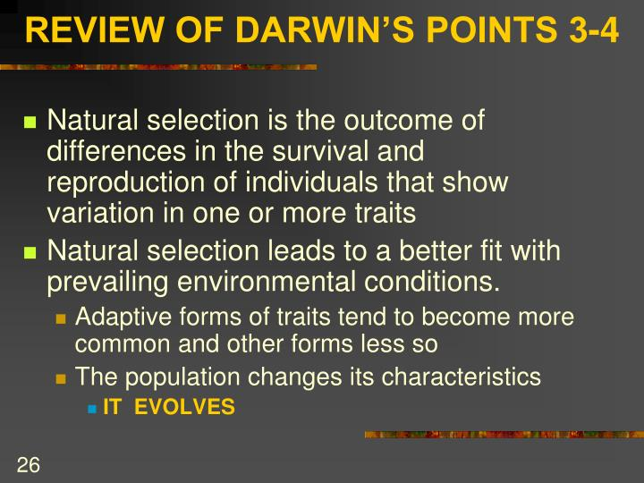REVIEW OF DARWIN'S POINTS 3-4