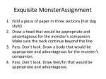 exquisite monsterassignment