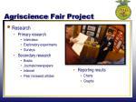 agriscience fair project