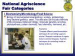 national agriscience fair categories