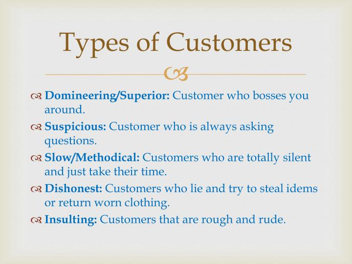 Types of customers1