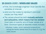 bn basics cont nodes and values