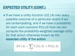 expected utility cont