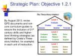 strategic plan objective 1 2 1