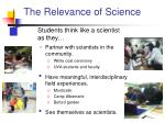 the relevance of science