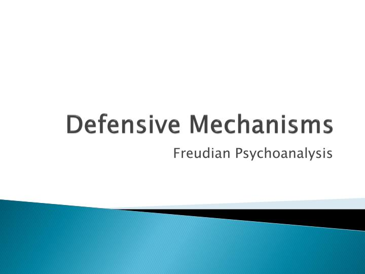 defensive mechanisms n.