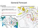 general forecast