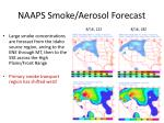 naaps smoke aerosol forecast