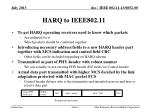harq to ieee802 11
