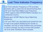 lost time indicator frequency