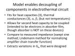 model enables decoupling of components in electrothermal circuit