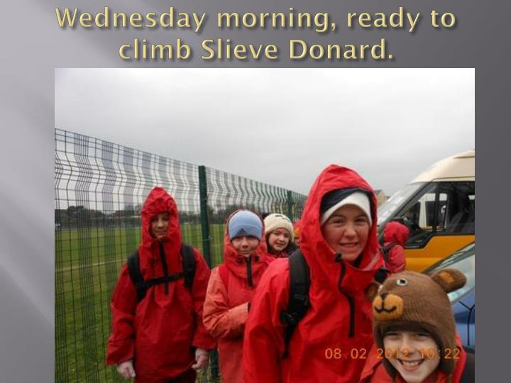 wednesday morning ready to climb slieve donard n.