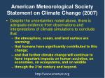 american meteorological society statement on climate change 2007