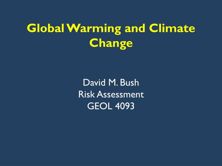 global warming and climate change n.