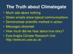 the truth about climategate