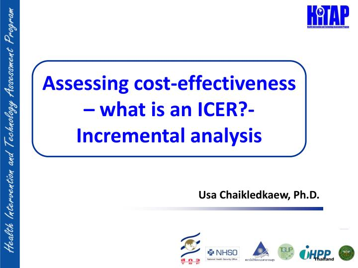 assessing cost effectiveness what is an icer incremental analysis n.