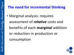 the need for incremental thinking