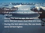 glacier reservoirs