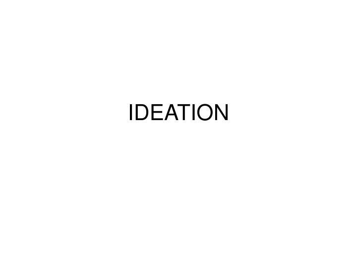 ideation n.