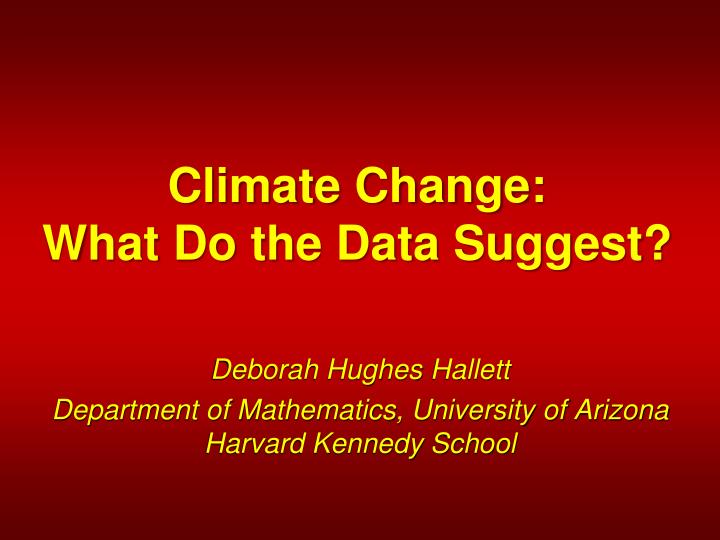 climate change what do the data suggest n.