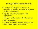 rising global temperatures