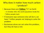 why does it matter how much carbon i produce
