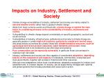 impacts on industry settlement and society