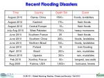recent flooding disasters