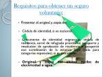 requisitos para obtener un seguro voluntario