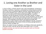 1 loving one another as brother and sister in the lord