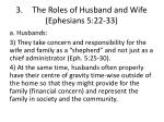 3 the roles of husband and wife ephesians 5 22 332