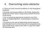 4 overcoming some obstacles