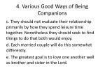 4 v arious good ways of being c ompanions1