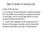 talk 3 order in family life1