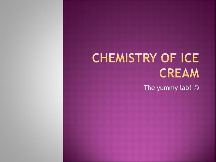 chemistry of ice cream n.