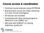 course access coordination
