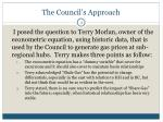 the council s approach